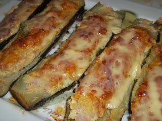 ... barchette di zucchine ripiene di prosciutto cotto e formaggio ...
