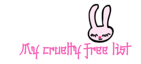 My cruelty-free list
