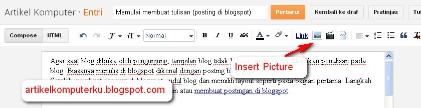 insert picture blogspot