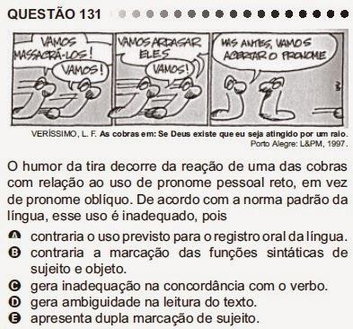 ANÁLISE - ENEM 2011 - QUESTÃO 131 - PROVA CINZA