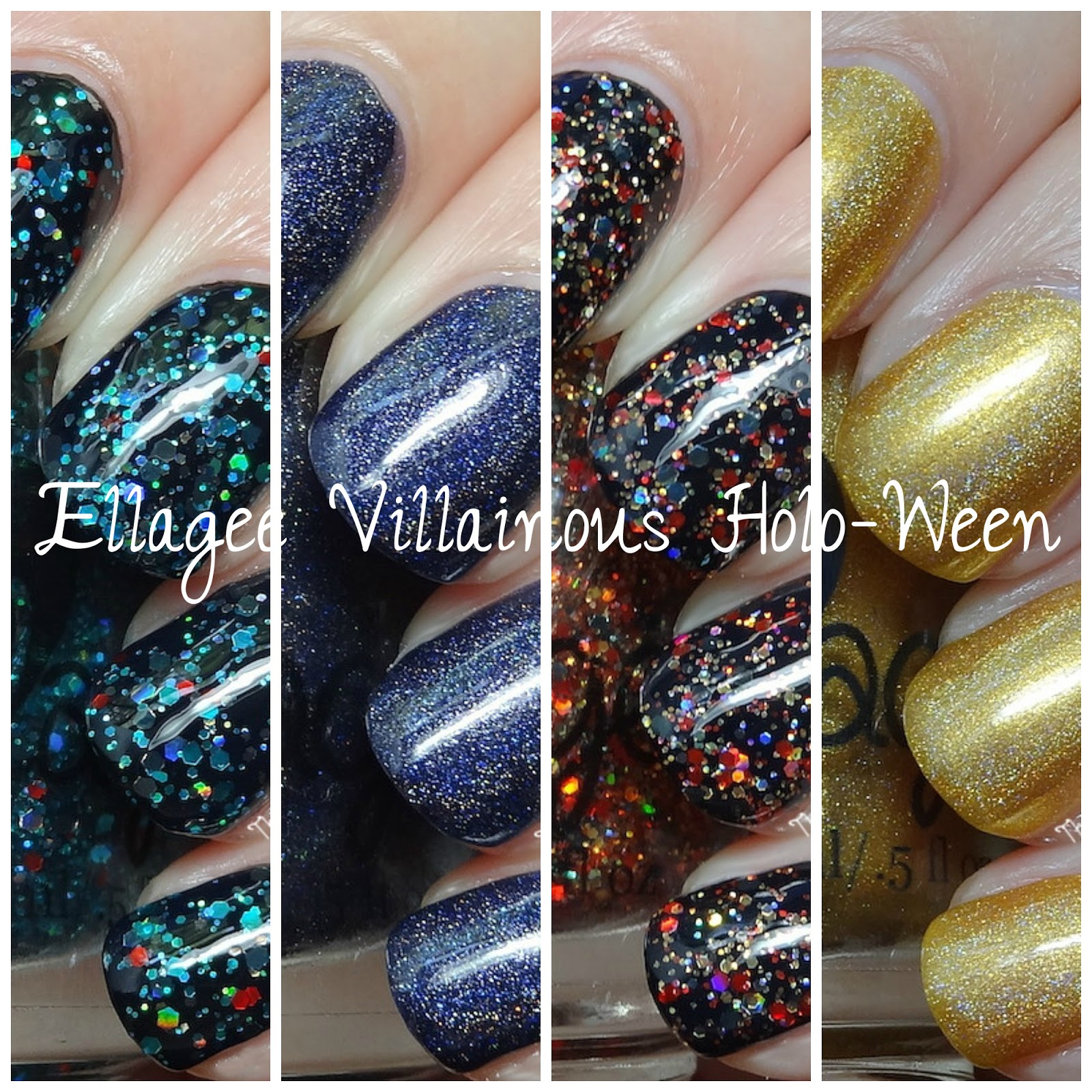 Ellagee Villainous Holo-ween Collection [Partial] Swatches & Review!