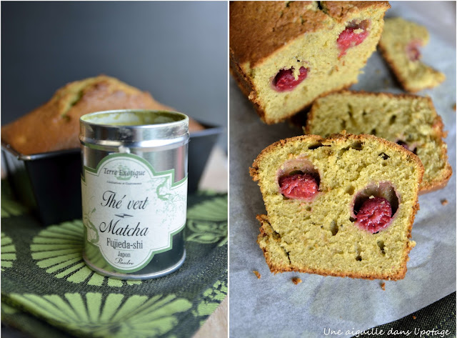 matcha cake raspberry