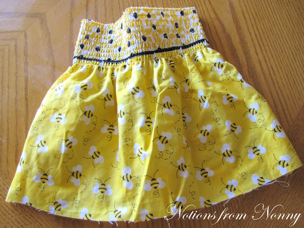 Darling Bumble Bees: EASY Pre-smocked Skirt