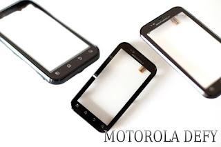Original Motorola Defy+ / DEFY PLUS MB526 Touchscreen Glas Scheibe + Rahmen