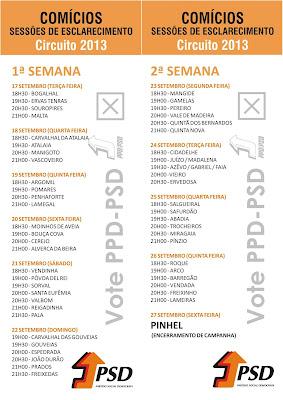 Comícios e Sessões de Esclarecimento Rui Ventura PPD PSD Pinhel 2013