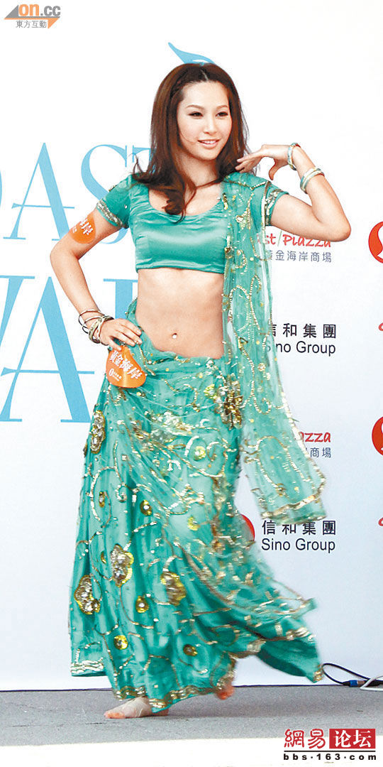 Kate Tsui dare not eat breakfast when she has to wear the sexy dance costumes,  to avoid exposing a pot belly.