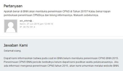 Berita Penerimaan CPNS BNN 2015 Adalah HOAX