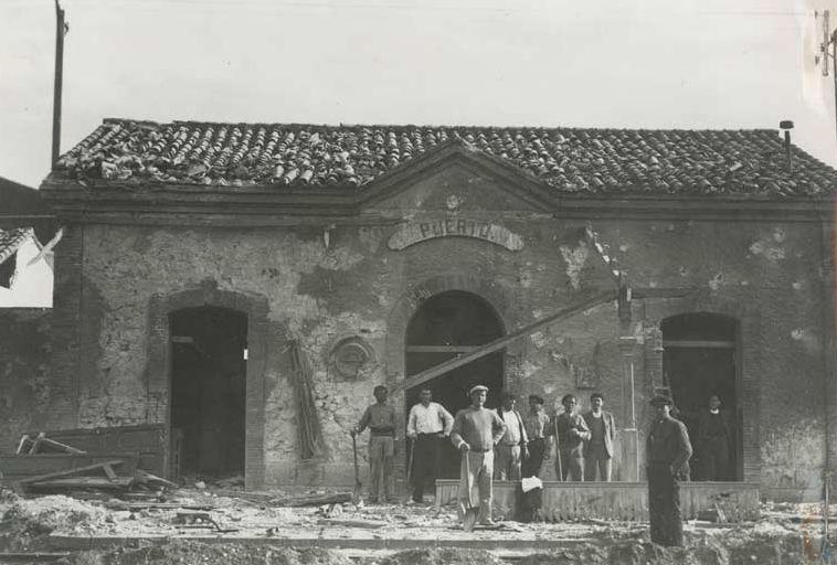 Estació del port durant la Guerra Civil