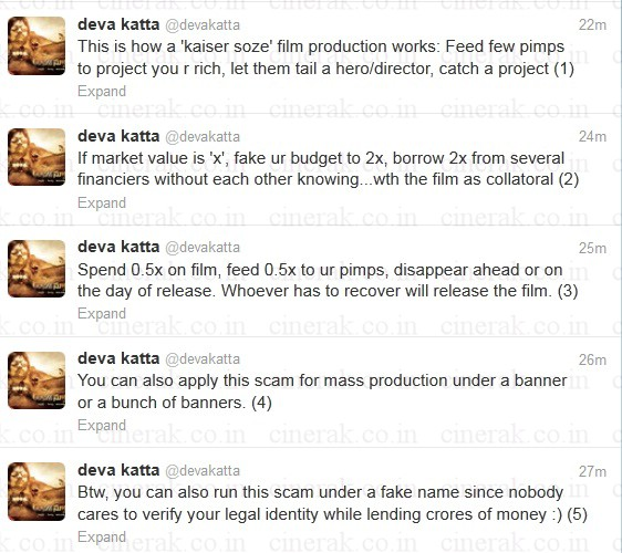 Devakatta sensational tweets jan+2013