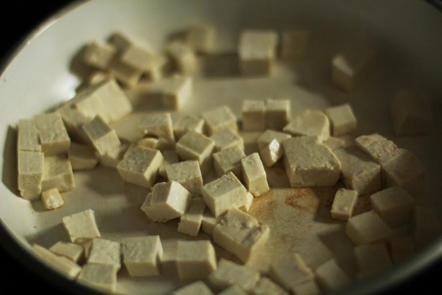tofu braten vegan fitness food