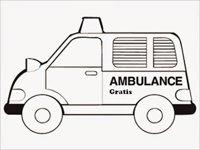 ambulance coloring pages free
