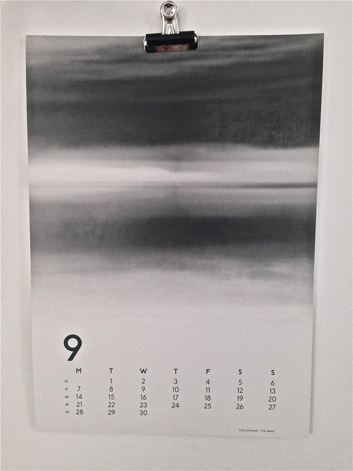 Calendar 15, Calendarproject, Kalender 2015, Väggkalender, Designkalender,