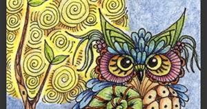 Fairy Tangles Moon Owls