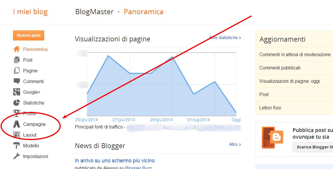 Aumentare il numero dei lettori di Blogger con Adwords