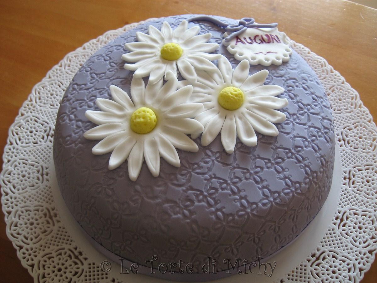 Preferenza Torta di compleanno chic con margherite – Le Torte di Michy EH19