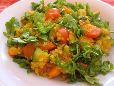 quinoa con pomodorini,zucchine e rucola