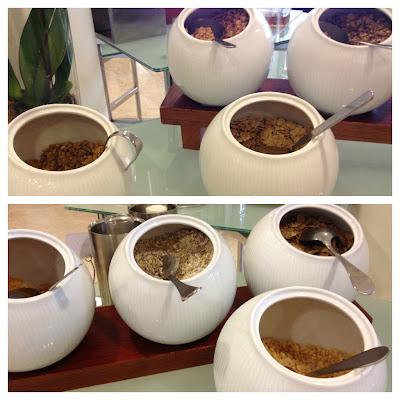 Cereals and nuts at Assymetri Restaurant, Raddison Blu Hotel Yas Island Abu Dhabi