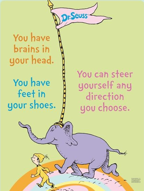 Image result for dr. seuss quotes you have brains in your head