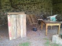 Fabricando el compostador, carpinteria madera, enredandonogaraxe.com