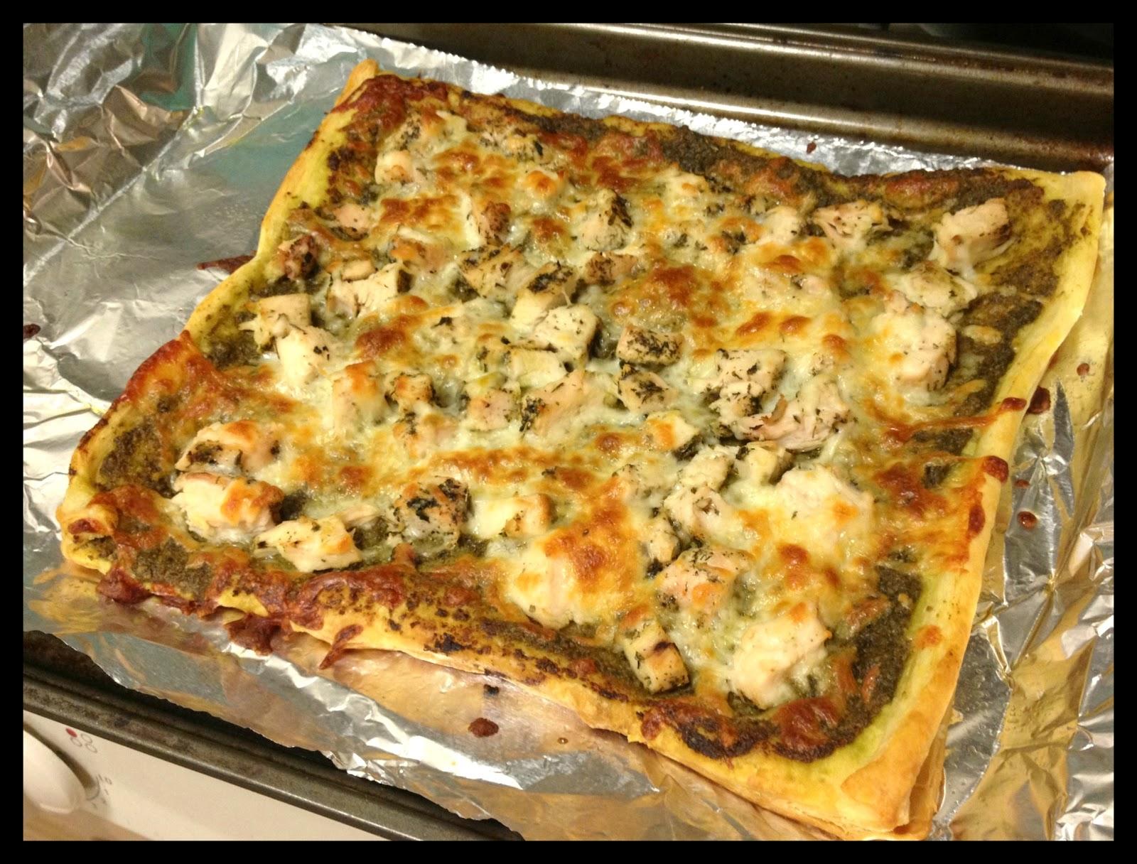 Girl And Her Fork: Pesto Chicken Open Tart