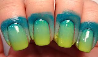 Green Gradient Nails