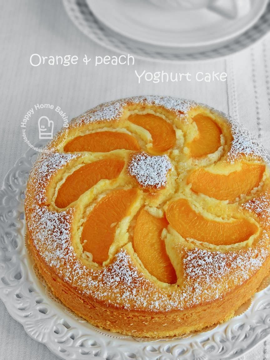 Orange Blossom-Sesame Cake With Peaches Recipe — Dishmaps