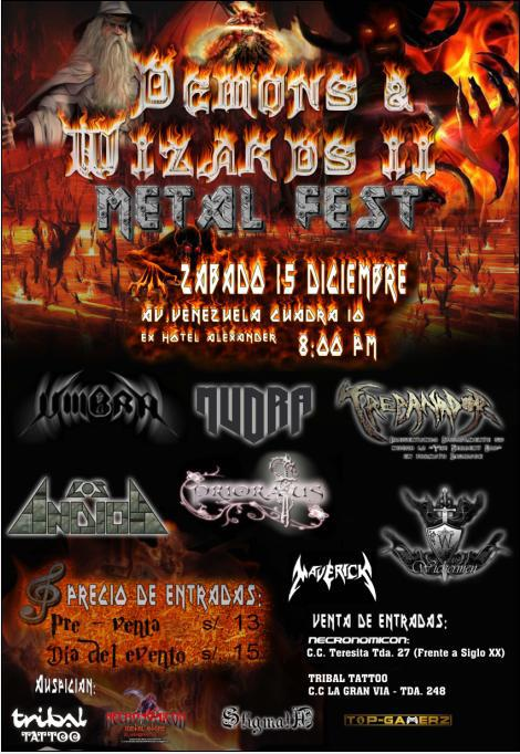 DEMONS AND WIZARDS II METAL FEST (15 dic)