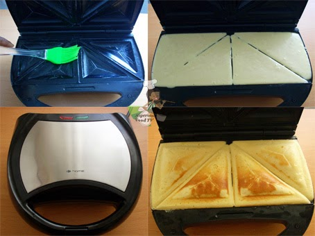 preparation of Cake in a Sandwich Toaster / Maker, nigerian cake, Sandwich maker pillow cake, sandwich maker recipes, sandwich toaster recipes
