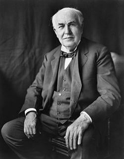トマス=エジソン (1847-1931) :「竹炭」をフィラメントにする白熱電球を発明!