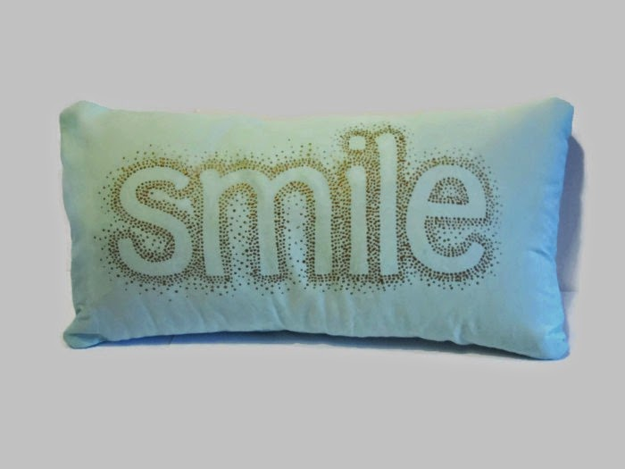 smile cushion cover