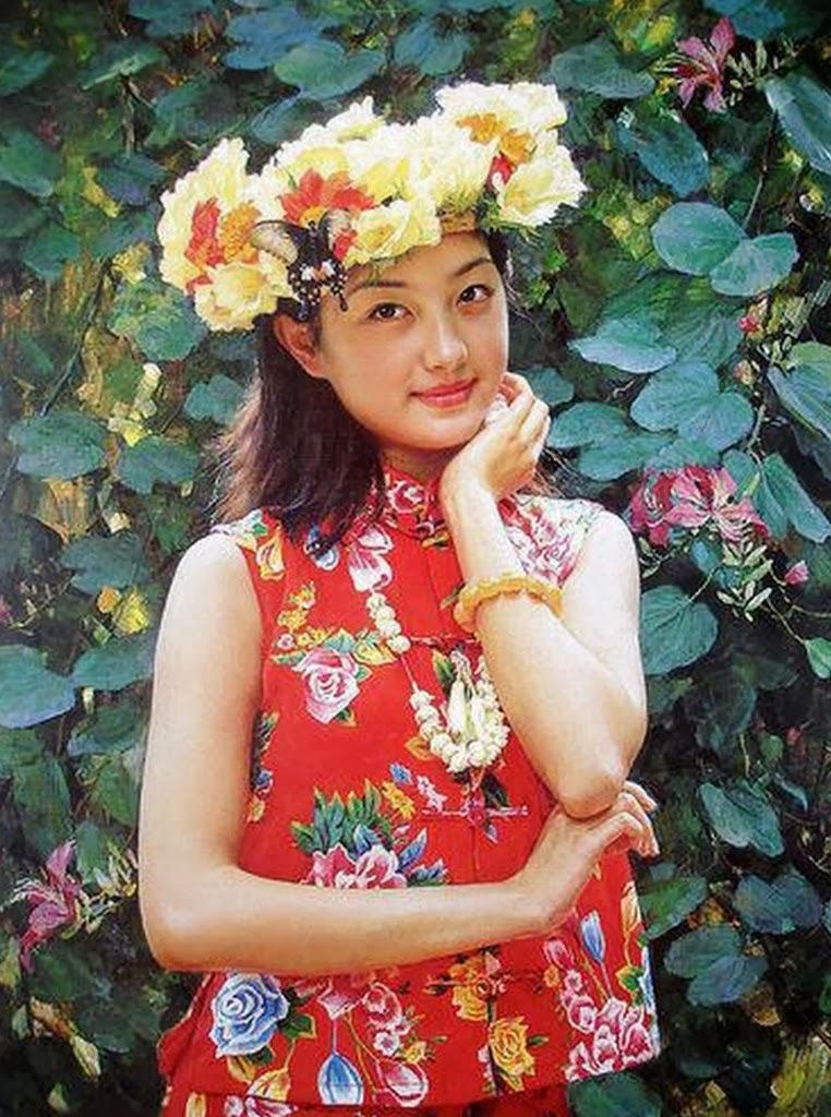 GUAN ZEJU ( Pintura) Pinturas+realistas+femeninas+(4)