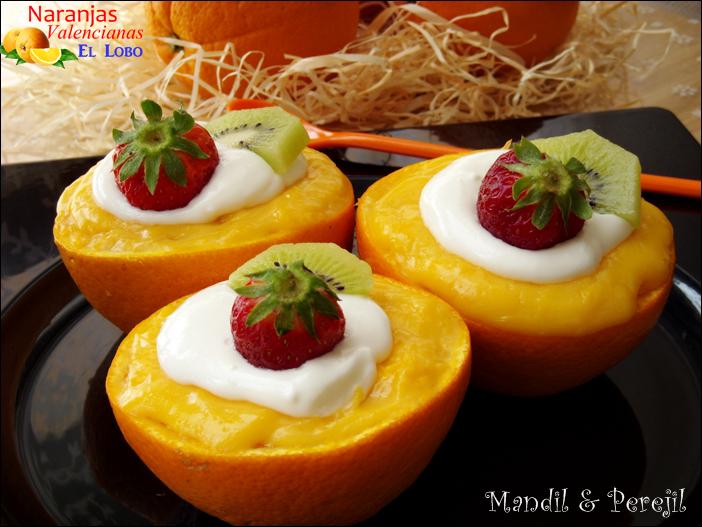 Naranjas Rellenas de Crema