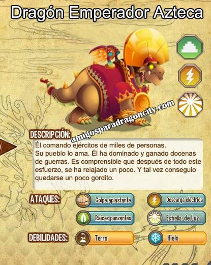 imagen de las caracteristicas del dragon emperador azteca