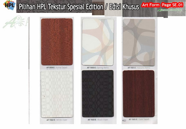 SE.01 HPL Art form motif tekstur edisi khusus