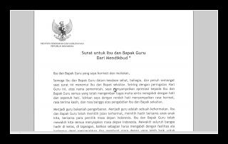 MENYAMBUT HARI GURU NASIONAL DAN HUT PGRI KE 69