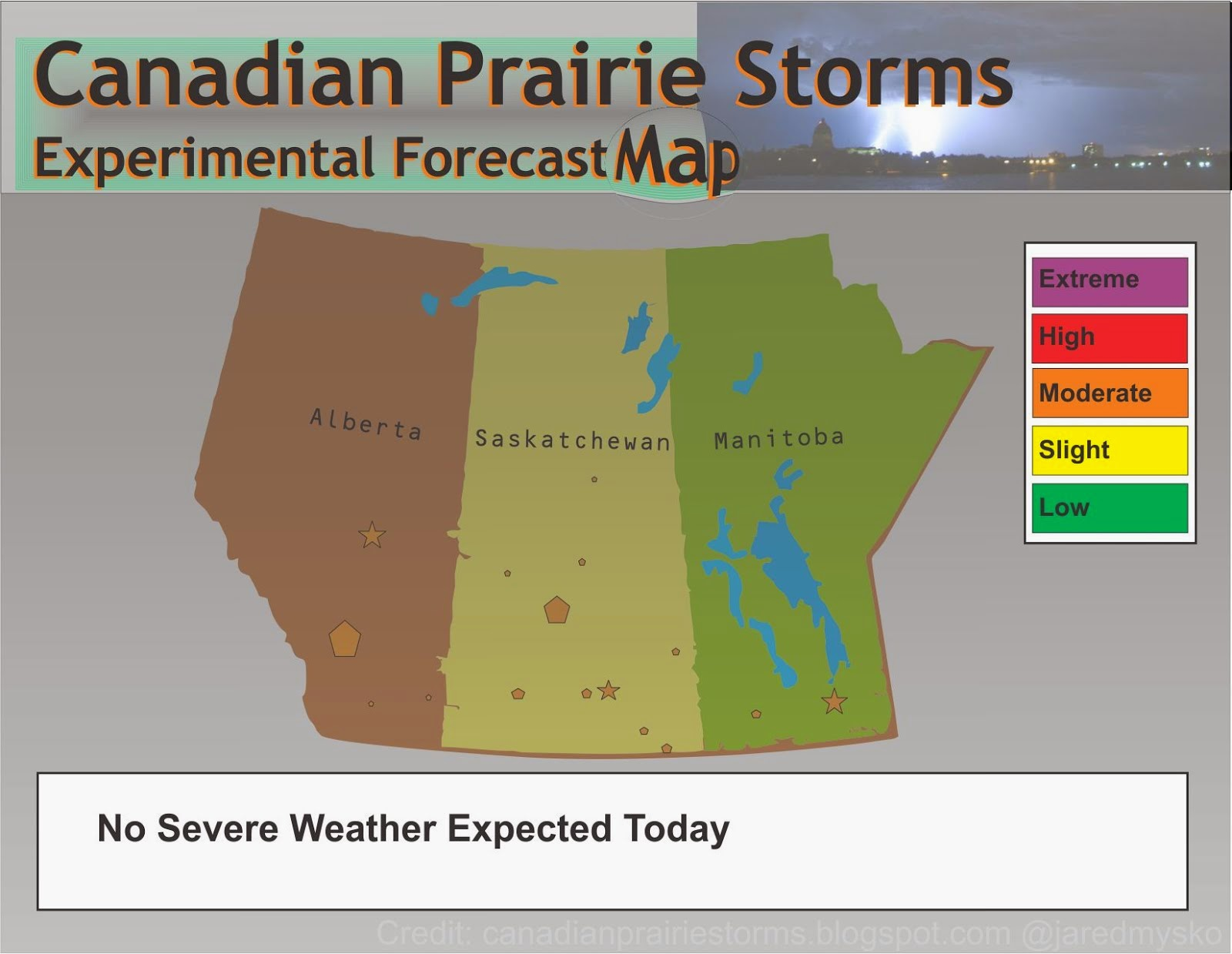 Experimental Forecast Map
