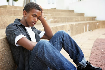 African American Depressed Teenager