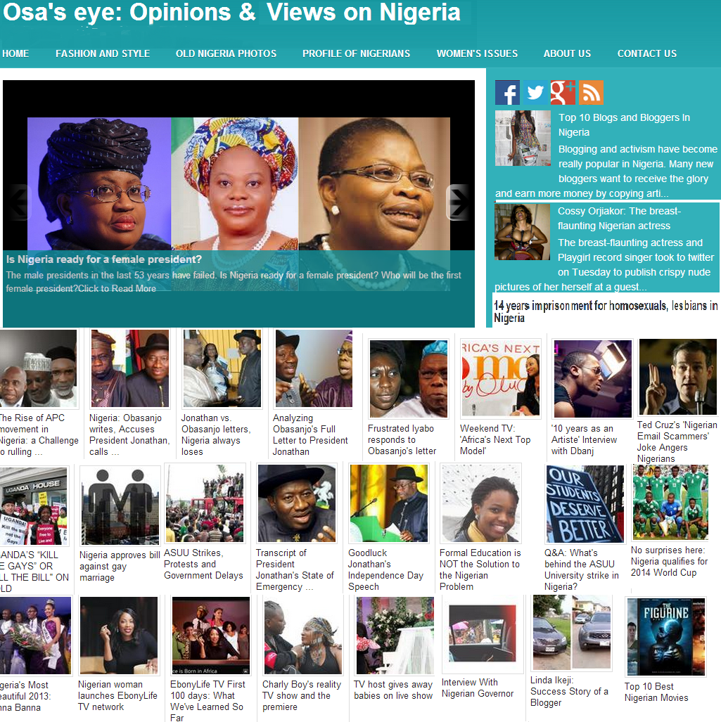 Nigeria views and opinions