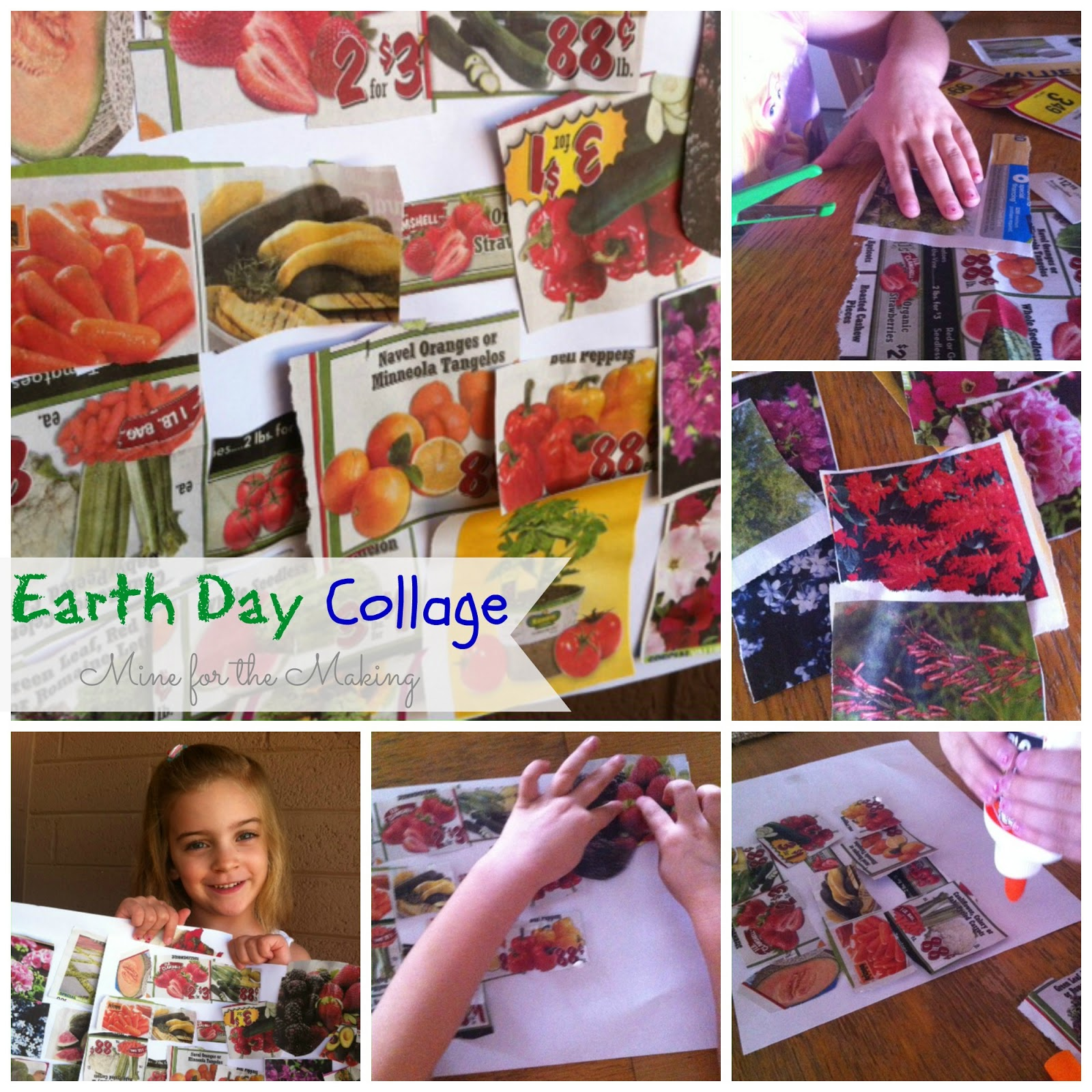tot tuesday earth day collage mine for the making