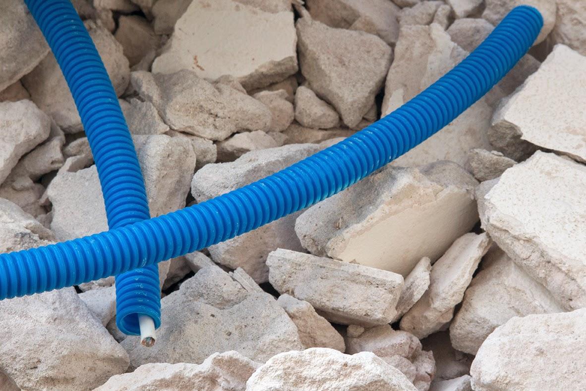 plastic blue tube