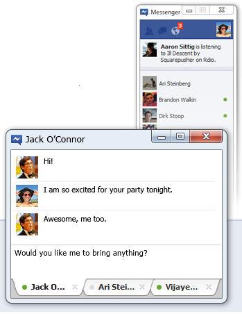 Cliente de escritorio para chatear en Facebook