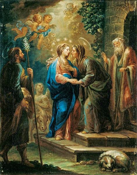 La Visitación del pintor español Jerónimo Ezquerra.