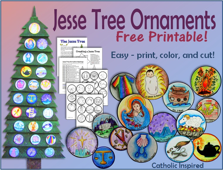 photograph about Jesse Tree Ornaments Printable called Printable Jesse Tree Ornaments! Totally free and Basic! - Catholic