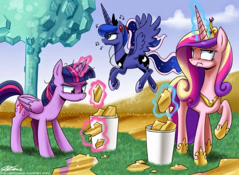 Once again Celestia doesn't do any work. Is Luna even doing any work? Yeah it's been a while!