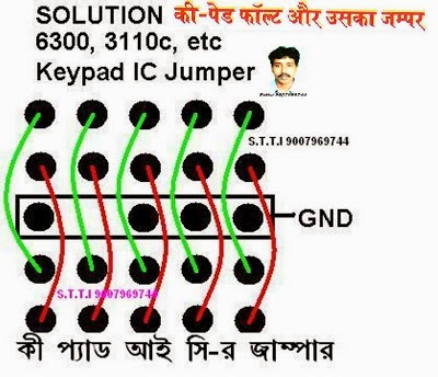 Nokia 6300 keypad full jumpers