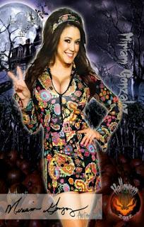 Miriam Gonzalez opted for hot hippie dress