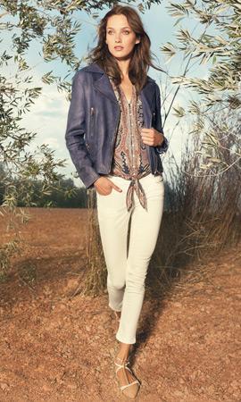 Massimo Dutti primavera 2013 mujer cazadora de cuero