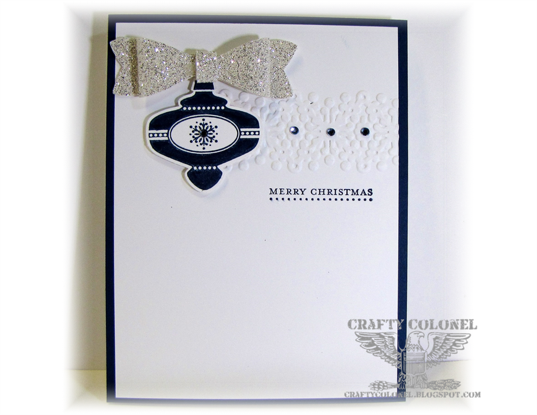 Crafty Colonel, Stamping Up, Bow Punch, Christmas Collectibles 2013, Christmas Card