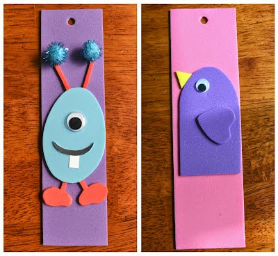 http://eastcoastmommyblog.blogspot.ca/2012/04/ecm-kids-craft-club-2-foam-bookmarks.html