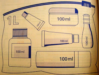 Фото правило провоза жидкостей в самолёте